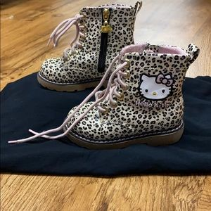 Leopard Print Hello Kitty Boots -Toddler size 9